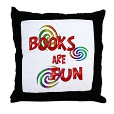 Book Fun Throw Pillow