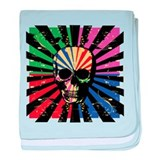 Bright Colorful Gothic Skull pattern on retro back