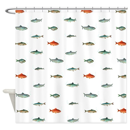 nautical ocean fish shower curtain