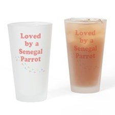 Loved by a Senegal Parrot Drinking Glass