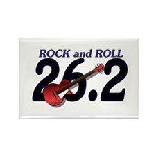 Rock and Roll MArathon Rectangle Magnet