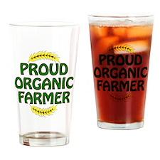Proud organic Farmer Drinking Glass