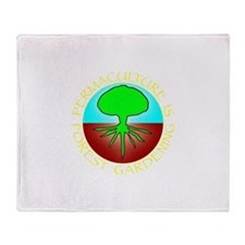 Permaculture2.png Throw Blanket
