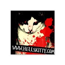 Hell's Kitty Square Sticker