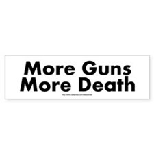 Cute Anti gun Bumper Sticker