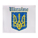 Ukraine Coat of arms Throw Blanket