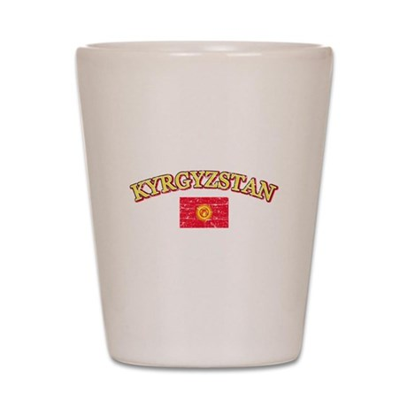 Kyrgyzstan Flag Designs Shot Glass