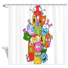 Cute Monster Shower Curtain