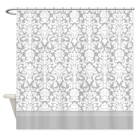 gray damask shower curtain by inspirationzstore