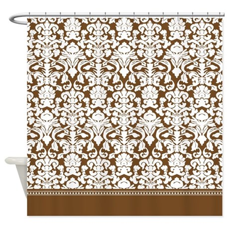 Brown Damask Shower Curtain By Inspirationzstore