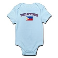 Philippines Flag Designs Infant Bodysuit