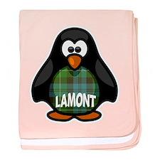 Lamont Tartan Penguin baby blanket