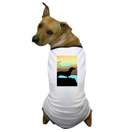 dachshunds by the sea Dog T-Shirt