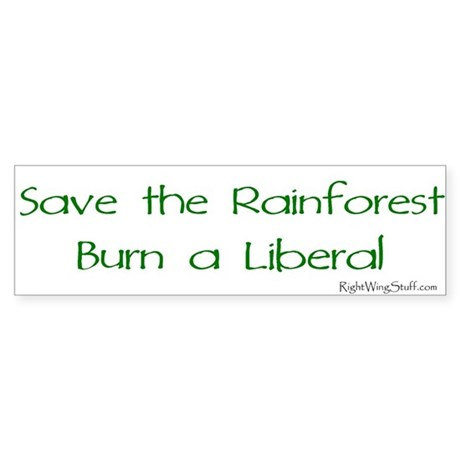 Save the Rainforest Bumper Sticker
