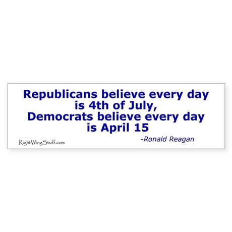 Reagan Quote Bumper Sticker