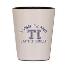 Tybee Island GA -Varsity Design. Shot Glass