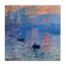 Claude Monet Impression Sunrise Tile Coaster