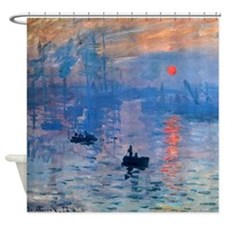 Claude Monet Impression Sunrise Shower Curtain