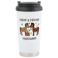 Horsey Halloween Ceramic Travel Mug