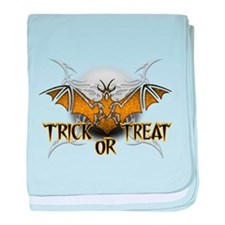 Trick or Treat Bat.png baby blanket
