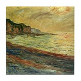 Monet Beach at Pourville Tile Coaster