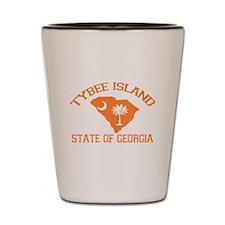 Tybee Island GA - Map Design. Shot Glass