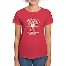 Vegan for Life Dark Women's Dark T-Shirt