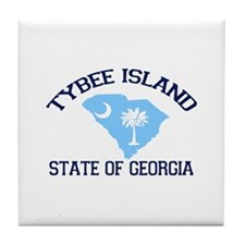 Tybee Island GA - Map Design. Tile Coaster