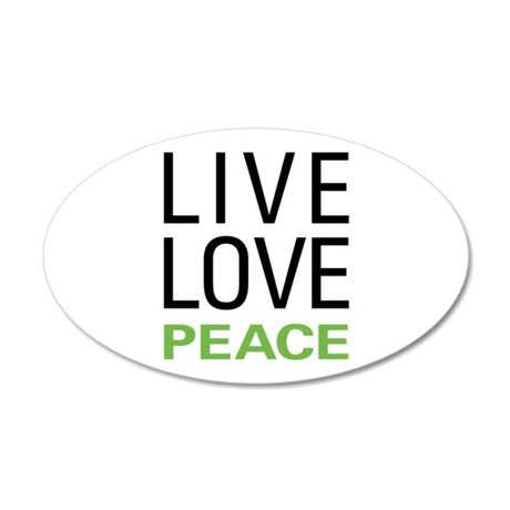 Live Love Peace 20x12 Oval Wall Decal