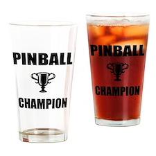 pinball champ Drinking Glass