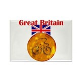 British Cycling Gold Medal Rectangle Magnet (100 p
