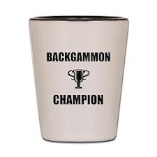 backgammon champ Shot Glass