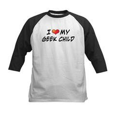 Love Geek Child Kids Baseball Jersey