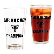 air hockey champ Drinking Glass