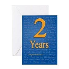 2 year recovery birthday Greeting Card