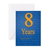 8 year recovery birthday Greeting Card