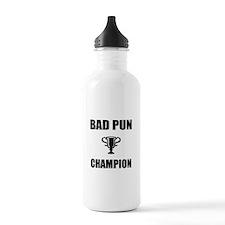 bad pun champ Water Bottle