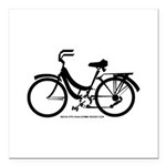 Bike Design Sans Basket Square Car Magnet 3