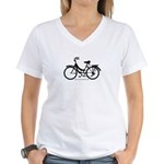 Bike Design Sans Basket Women's V-Neck T-Shirt
