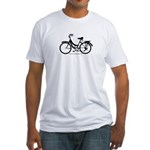 Bike Design Sans Basket Fitted T-Shirt