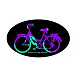 80s Style Bicycling Stivker Oval Car Magnet