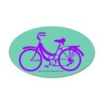 Bike Design 80s/90s Colors Oval Car Magnet