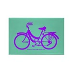 Bike Design 80s/90s Colors Rectangle Magnet