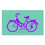 Bike Design 80s/90s Colors Sticker (Rectangle)