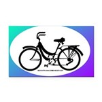 Bicycle Decal Rectangle Car Magnet
