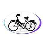 Bicycle Decal Oval Car Magnet
