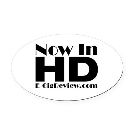 HD Oval Car Magnet