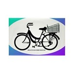 Bicycle Decal with basket Rectangle Magnet