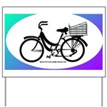 Bicycle Decal with basket Yard Sign