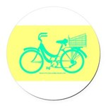 70s/80s Colours Bike Round Car Magnet